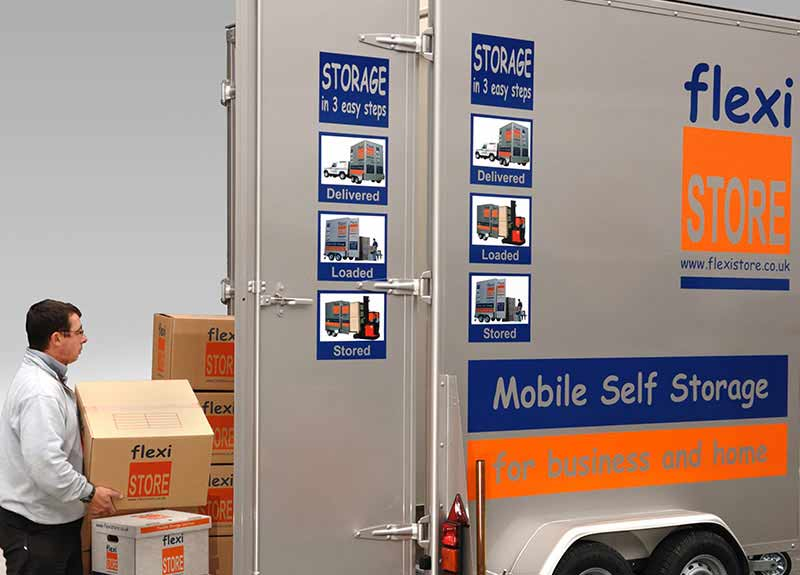 mobile self storage vault from Flexistore